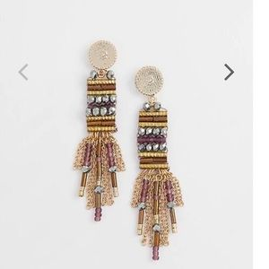 J.jill iced rose beaded post drop earring